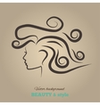 Female heads with beautiful hair vector image vector image
