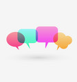 flat colorful chat bubble modern design vector image