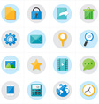 Flat Icons Mobile Icons and Internet Web Icons vector image vector image