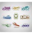 flat retro color stickers - set thirteen vector image vector image