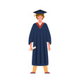 graduate student graduation from college vector image