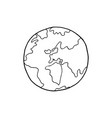 hand drawn earth vector image
