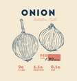 health benefits of onion vector image vector image