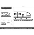high speed train line icon vector image vector image