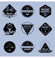 hipster emblems vector image vector image