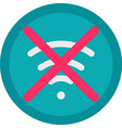 icon of a no connection in flat style with vector image vector image