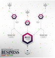 infographics business template concept with 4 opti vector image vector image