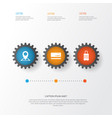 journey icons set collection of mastercard vector image vector image