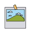 landscape photo frame vector image