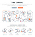 linear banner bike sharing vector image
