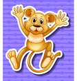 Little lion cub with happy face vector image vector image