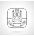 Locomotive icon flat line design icon vector image vector image