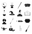 Magic simple icons set vector image vector image
