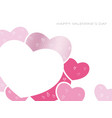 message card for valentines day vector image