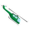 military green helicopter icon cartoon style vector image