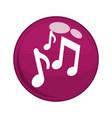 music notes button icon vector image