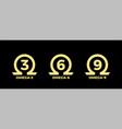 omega 3 source round badge logo icon vector image