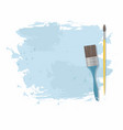 paint brush and blue stain vector image vector image