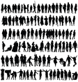 people black silhouette man and woman vector image vector image