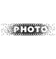 photo logo analogue digital and film photography vector image vector image
