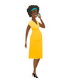 pregnant woman talking on a mobile phone vector image vector image