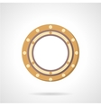 Roller bearing icon flat style vector image vector image