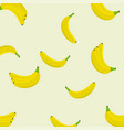 seamless background of bananas bananas on light vector image