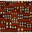 seamless pattern european night town vector image vector image