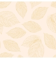 Seamless pattern with hand drawn rose leafs vector image vector image