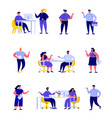 set flat people office workers or business vector image