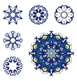 Set of six mandalas vector image vector image