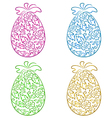 Set ornamental eggs in floral style for Easter vector image vector image