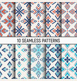 set ten color seamless patterns abstract vector image vector image