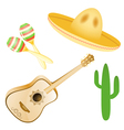 set various mexican images eps10 vector image vector image