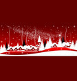 shining christmas star over the village vector image