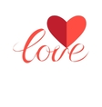 Sign love and heart vector image vector image