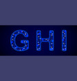 snowy font shiny letters on blue background for vector image vector image