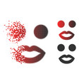 sparkle dot halftone lady smiley icon vector image
