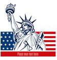 statue liberty nyc usa flag and symbol vector image vector image