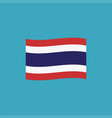 thailand flag icon in flat design vector image