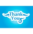 thank you graphic vector image vector image