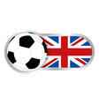 united kingdom soccer team vector image