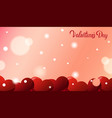 valentines day greeting card background with red vector image vector image