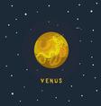 VENUS space view vector image vector image
