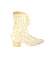 woman sandals or lady shoe golden ornament vector image