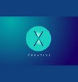 x letter logo icon design with paper cut creative vector image vector image