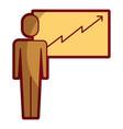 businessman pointing presentation board success vector image