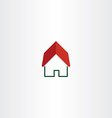 house logo real estate symbol element vector image