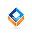 square abstract construction logo vector image