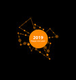 2019 new year made by points and vector image